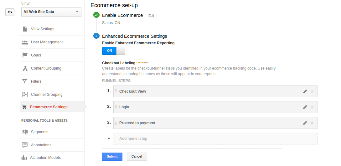 setting up enhanced ecommerce tracking