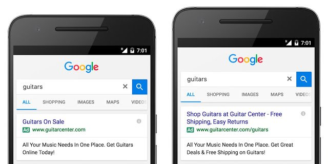 what does an adwords expanded-text look like